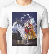 Rick And Morty Back To The Future Mash-Up T-Shirt