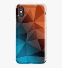Fire and Ice Polygon iPhone Case