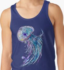 Jelly fish watercolor and ink painting Tank Top