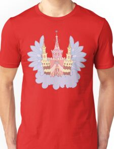 Cartoon fairy castle on a cloud  Unisex T-Shirt