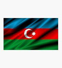 flag of azerbaijan Photographic Print