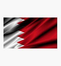 flag of bahrain Photographic Print
