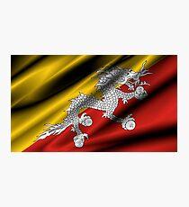 flag of bhutan Photographic Print
