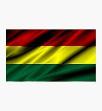flag of bolivia Photographic Print