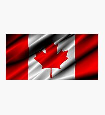 flag of canada Photographic Print