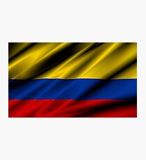 flag of colombia Photographic Print