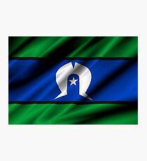 flag of torres strait Photographic Print