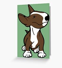 English Bull Terrier Pup Brown  Greeting Card