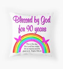 90TH BIRTHDAY BLESSINGS Throw Pillow