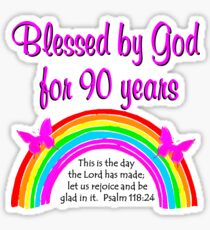 90TH BIRTHDAY BLESSINGS Sticker