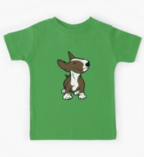 English Bull Terrier Pup Brown  Kids Tee