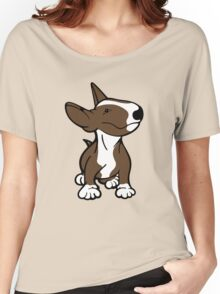 English Bull Terrier Pup Brown  Women's Relaxed Fit T-Shirt
