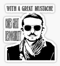With a Great Mustache Sticker