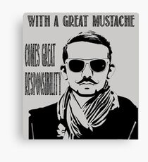 With a Great Mustache Canvas Print