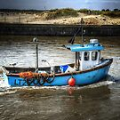 Fishing Boat at Walberswick, Suffolk, UK by Simon Duckworth