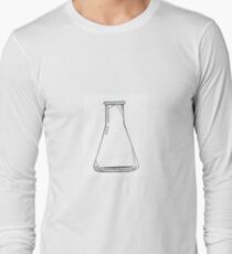 Black And White Chemistry Beaker Long Sleeve T-Shirt