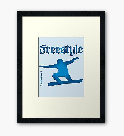 Freestyle snowboard Framed Print