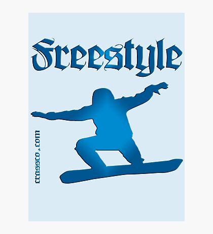 Freestyle snowboard Photographic Print