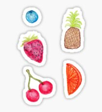 Juicy Watercolor Hand Painted Fruit Pattern Sticker
