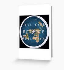 Flat earth flat is fact Greeting Card