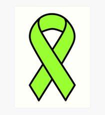 Lime Lymphoma Ribbon Art Print