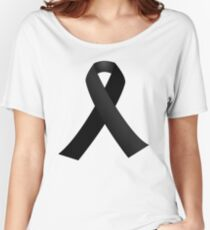 Black Mourning Ribbon Women's Relaxed Fit T-Shirt