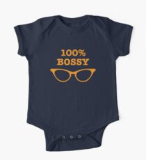 100% percent BOSSY! with glasses Kids Clothes