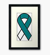 Cervical Cancer Ribbon Framed Print