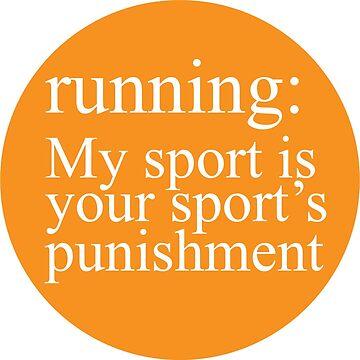 Running: My Sport Orange by Gritzke