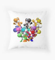Yoshi Fever Throw Pillow