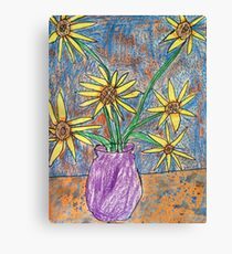 Van Gogh Inspired Flowers Canvas Print