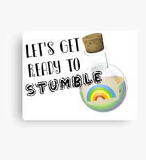 Let's Get Ready to Stumble St Paddys Day Apparel Canvas Print