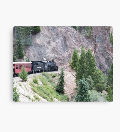 Vintage Locomotive, Cumbres-Toltec Narrow-Gauge Railroad, Chama, New Mexico Canvas Print