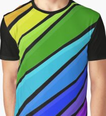 Rain Storm Rainbow Graphic T-Shirt