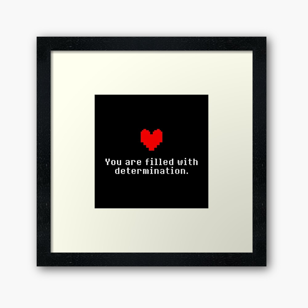 Seeing this image... - Undertale Framed Art Print