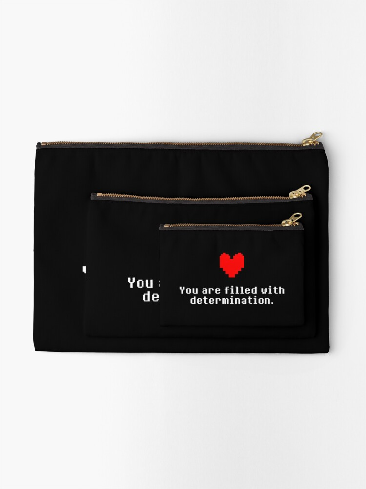 Alternate view of Seeing this image... - Undertale Zipper Pouch