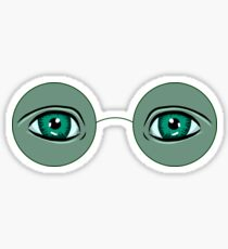 Glasses Great Gatsby Sticker
