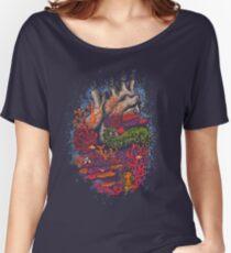 Camiseta ancha para mujer corazón del mar