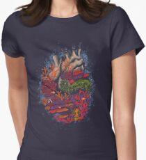 Herz des Meeres Tailliertes T-Shirt für Frauen