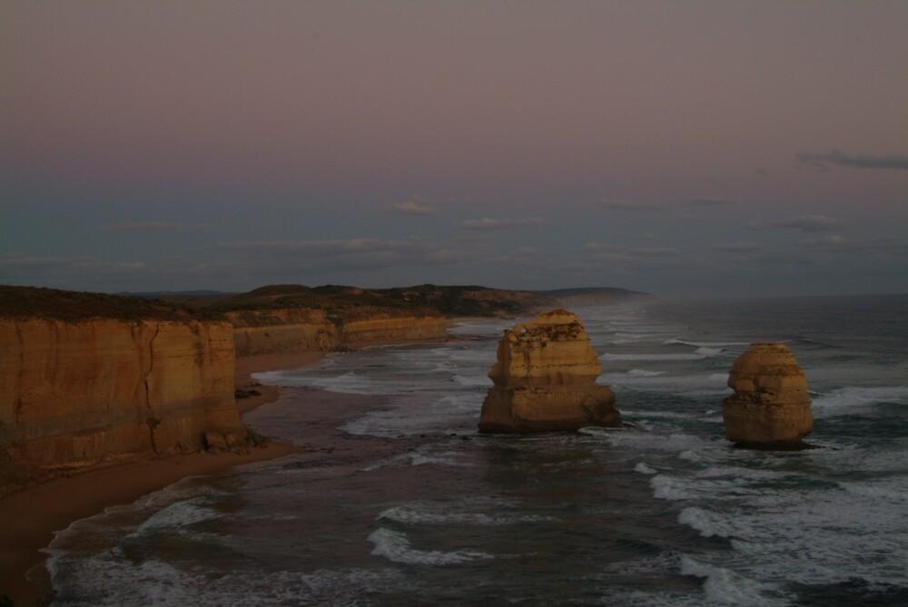 Joe Mortelliti Gallery - Twilight on two of the Twelve Apostles, Great Ocean Road, Victoria, Australia.  by thisisaustralia