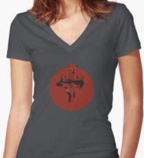 HK-47 Women's Fitted V-Neck T-Shirt