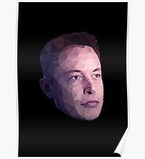 Low Poly Hero: Elon Musk – Prints & Posters Poster