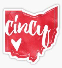 Cincy Ohio Outline Sticker