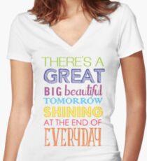 Carousel Of Progress Women's Fitted V-Neck T-Shirt