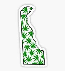 Delaware (DE) Weed Leaf Pattern Sticker