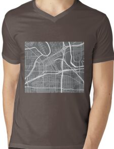 Fort Worth Map - Grey Mens V-Neck T-Shirt