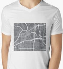 Fort Worth Map - Grey T-Shirt