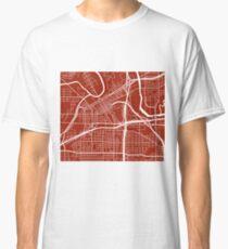 Fort Worth Map - Dark Red Classic T-Shirt