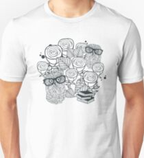 White roses and owls T-Shirt