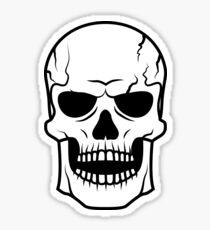 Black skull. Very DANGER! Sticker